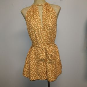 Giraffe Shorts Romper